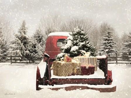 Snowy Presents by Lori Deiter art print
