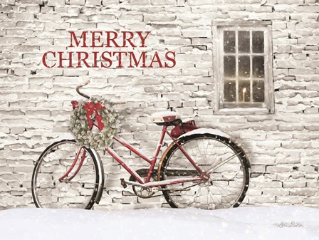Merry Christmas Bicycle by Lori Deiter art print