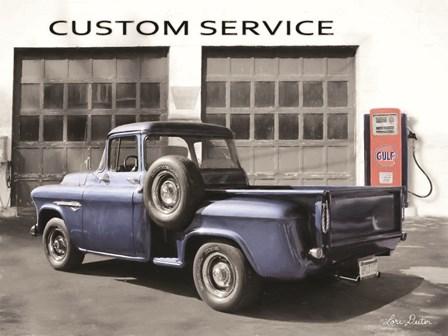 Gulf Service Station by Lori Deiter art print