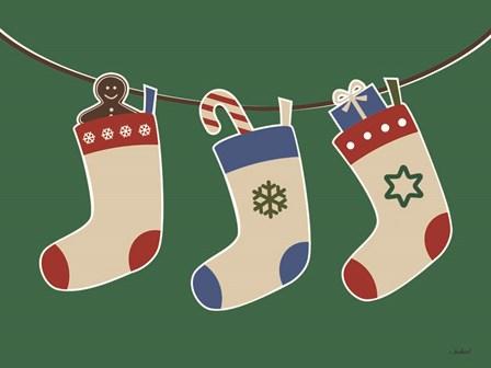 Christmas Socks by Martina Pavlova art print