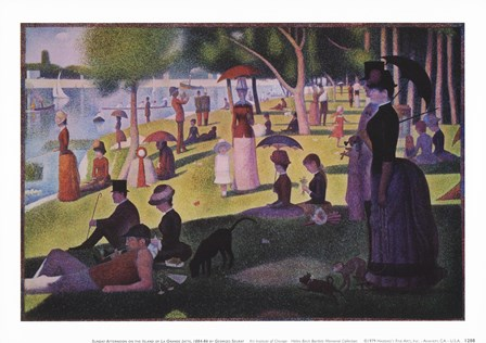 A Sunday Afternoon on the Island by Georges Seurat art print