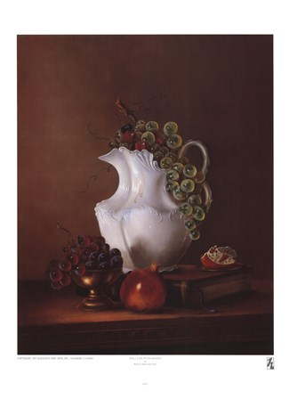Still Life with Grapes by William Galvez art print