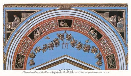 Detail/Loggia in the Vatican IV by Raphael art print