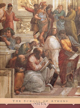 The School of Athens (Detail, Left) by Raphael art print