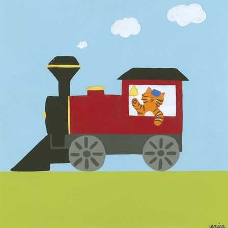 Circus Train I by June Erica Vess art print