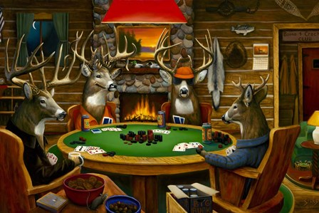 Deer Camp by Leo Stans art print