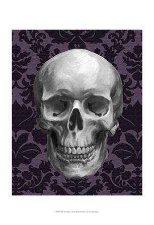 Skull on Damask by Ethan Harper art print