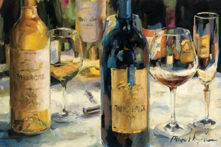 Bordeaux and Muscat by Marilyn Hageman art print