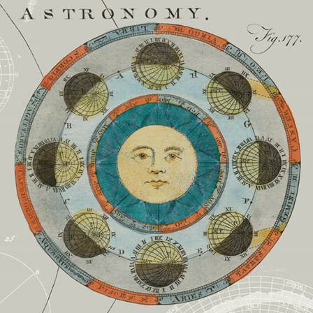 Lunar Calendar by Sue Schlabach art print