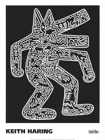 Dog, 1985 by Keith Haring art print
