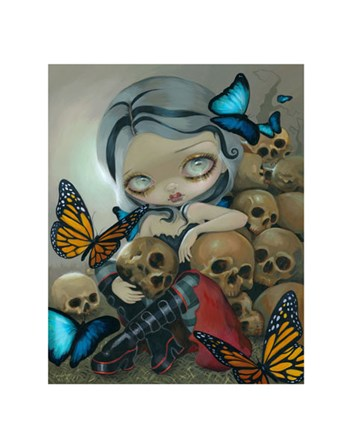 Butterflies and Bones by Jasmine Becket-Griffith art print