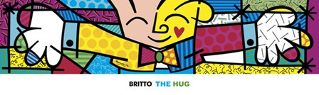 The Hug by Romero Britto art print