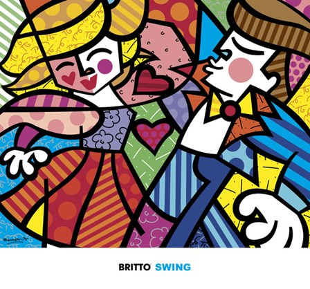 Swing by Romero Britto art print