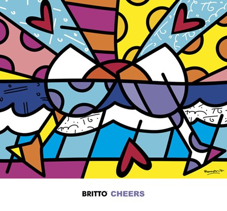 Cheers by Romero Britto art print