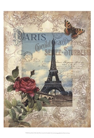Eternal Paris by Abby White art print