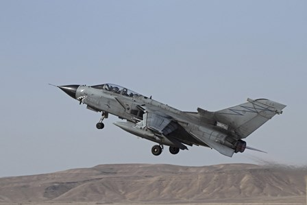 A Panavia Tornado of the Italian Air Force taking off by Ofer Zidon/Stocktrek Images art print