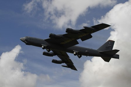 A B-52 Stratofortress heavy bomber of the US Air Force by Ofer Zidon/Stocktrek Images art print