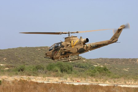 An AH-1S Tzefa attack helicopter of the Israeli Air Force by Ofer Zidon/Stocktrek Images art print