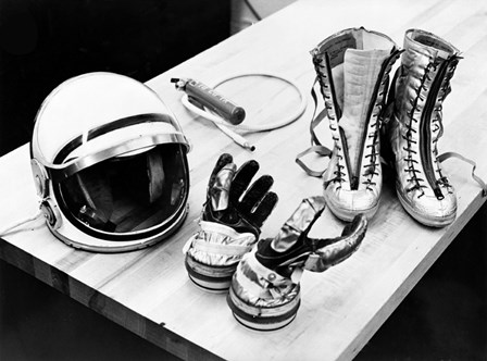 Components of the Mercury Spacesuit Included Gloves, Boots and a Helmet by Stocktrek Images art print