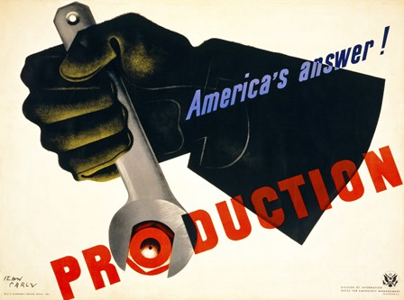 Production, America's Answer! by Print Collection art print