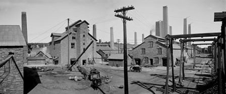 Calumet and Hecla Smelters by Print Collection art print