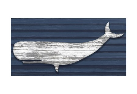 Rustic Whale by Sparx Studio art print