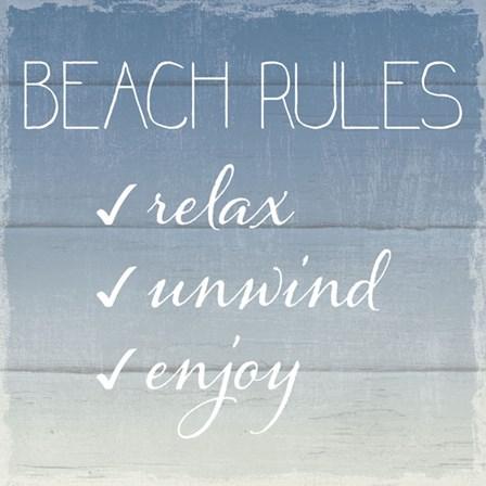 Beach Rules by Sparx Studio art print