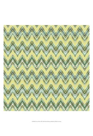 Chevron Waves III by Katia Hoffman art print