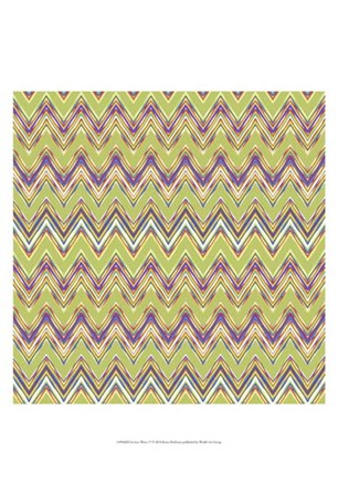 Chevron Waves V by Katia Hoffman art print