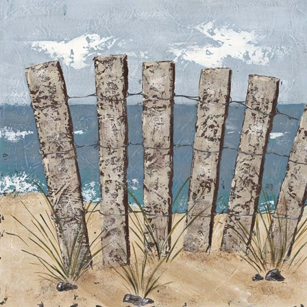 Beach Scene Triptych I by Jade Reynolds art print