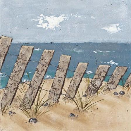 Beach Scene Triptych II by Jade Reynolds art print
