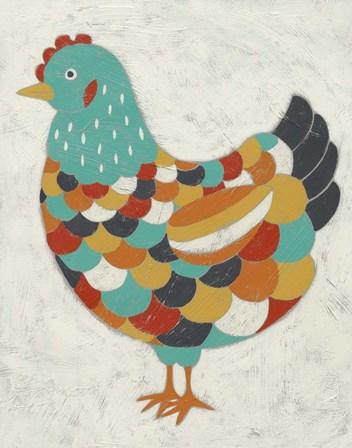 Country Chickens II by Chariklia Zarris art print