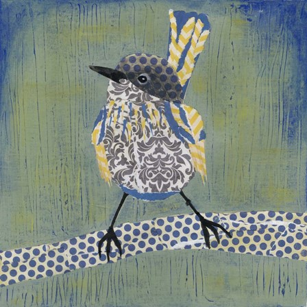 Patchwork Wren I by Grace Popp art print