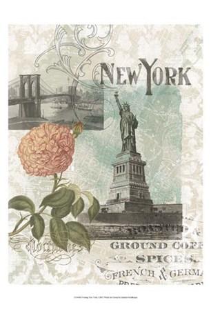 Visiting New York by Jennifer Goldberger art print