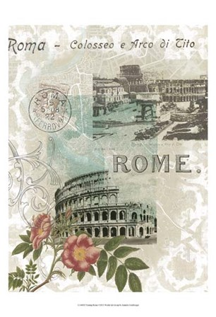 Visiting Rome by Jennifer Goldberger art print