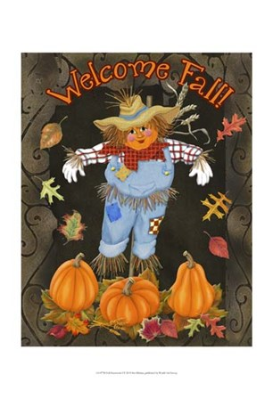 Fall Scarecrow I by Sue Ditzian art print