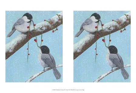 Chickadee Christmas IV 2-Up by Grace Popp art print