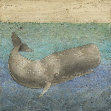 Diving Whale II by Megan Meagher art print