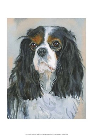 Woody Tricolor CKC Spaniel by Edie Fagan art print