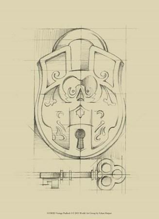 Vintage Padlock I by Ethan Harper art print