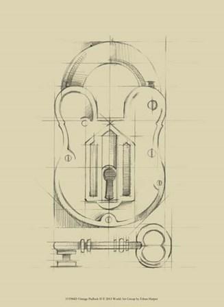 Vintage Padlock II by Ethan Harper art print
