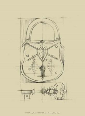 Vintage Padlock III by Ethan Harper art print