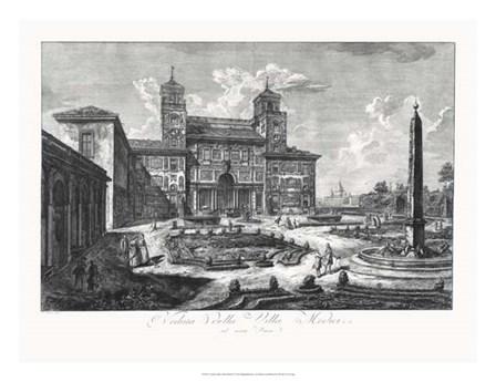 Veduta della Villa Medici by Francesco Piranesi art print