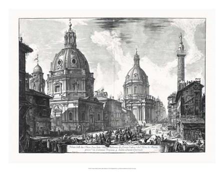Veduta della du Chiese della Madonna by Francesco Piranesi art print