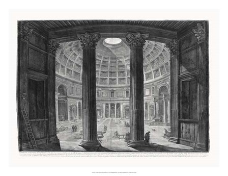 Veduta interna del Pantheon by Francesco Piranesi art print
