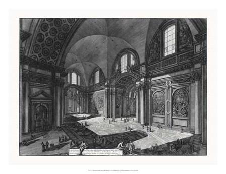 Veduta interna della Chiesa della Madonna by Francesco Piranesi art print