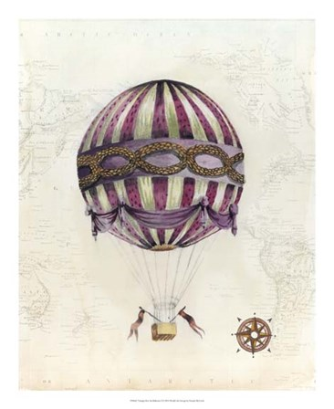 Vintage Hot Air Balloons I by Naomi McCavitt art print