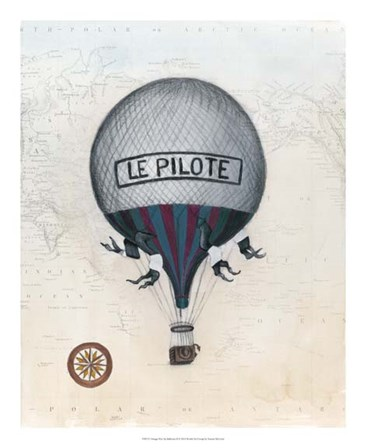 Vintage Hot Air Balloons II by Naomi McCavitt art print