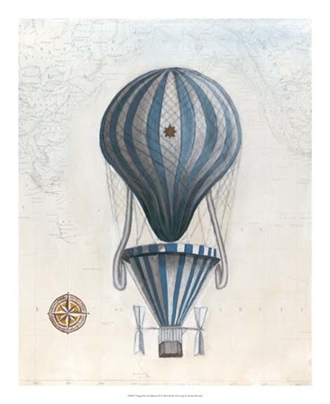 Vintage Hot Air Balloons IV by Naomi McCavitt art print