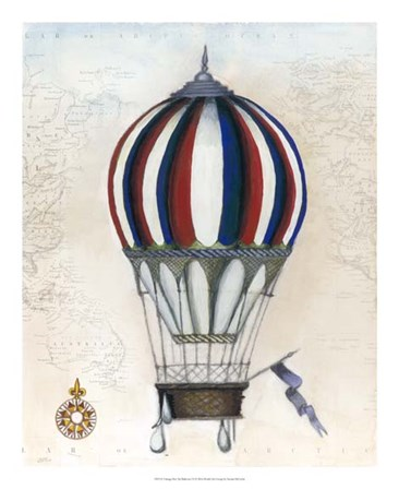 Vintage Hot Air Balloons VI by Naomi McCavitt art print